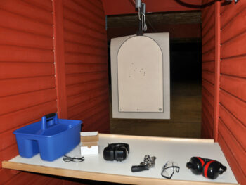 Chrystal's target at Green Zone shooting range
