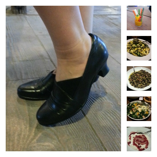 Collage of images from dinner with Earth Footwear