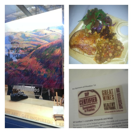 Collage of images from dinner in Paso Robles