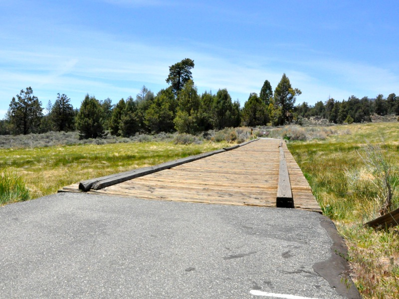 Foot bridge in Big Bear Lake, CA