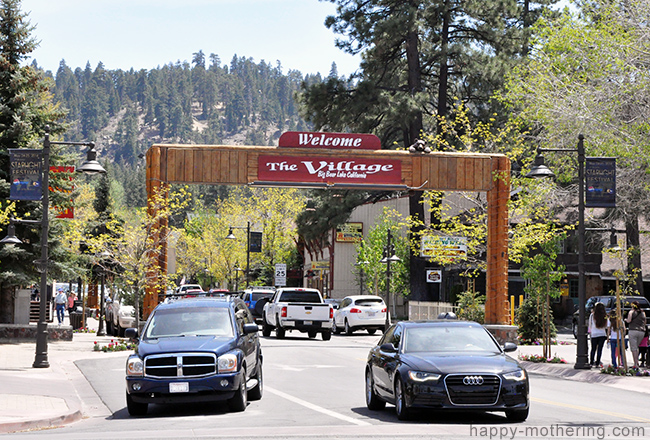 Entrance to The Village in Big Bear Lake, CA