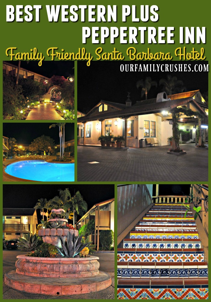 Collage of images from the Best Western Plus Peppertree In in Santa Barbara, CA