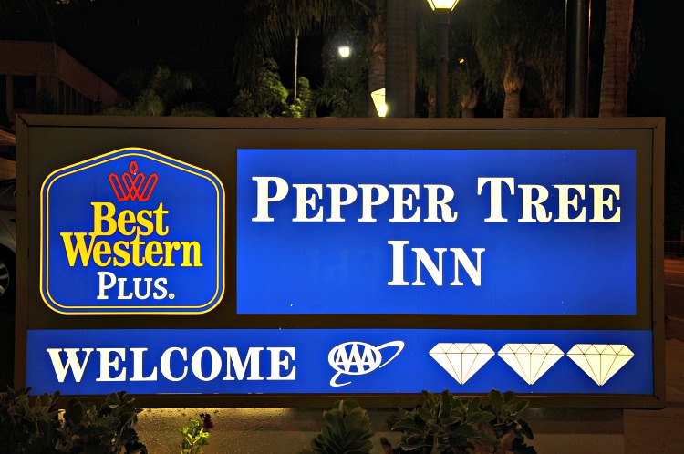 Best Western Plus Peppertree In welcome sign