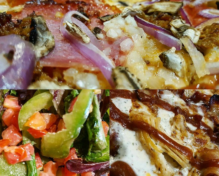 Collage of pizzas from Persona Wood Fired Pizza in Santa Barbara, CA