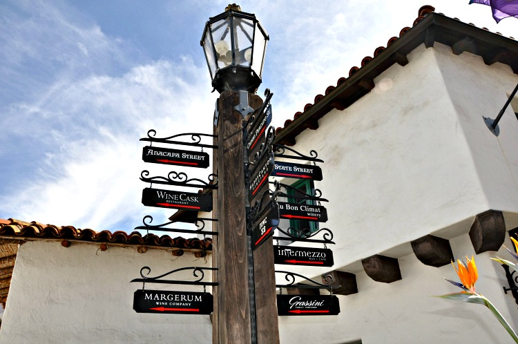 Urban Wine Trail sign in Santa Barbara, CA