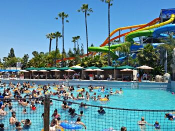 Wave Pool at Knott's Soak City in Buena Park, CA