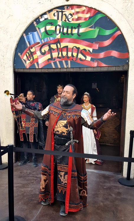 Entrance to Medieval Times dinner show in Buena Park, CA
