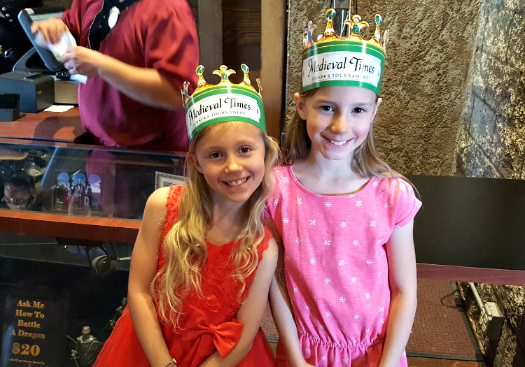 Zoë and Kaylee at Medieval Times in Buena Park, CA