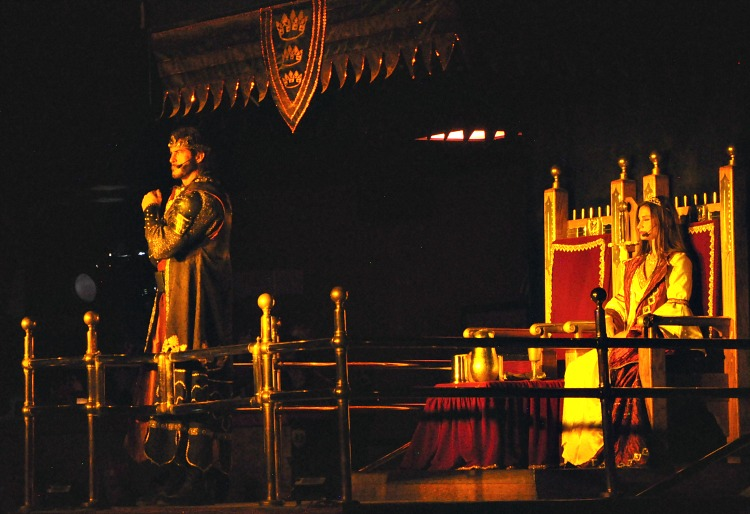 King and Queen at Medieval Times dinner show in Buena Park, CA