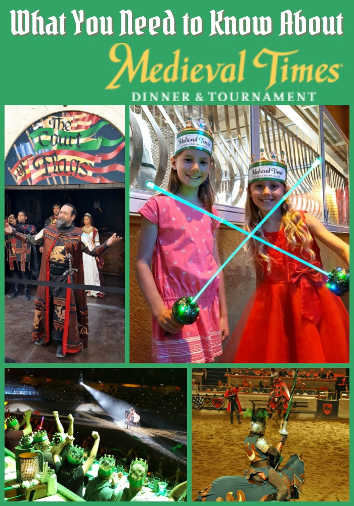 Collage of images from Medieval Times in Buena Park, CA