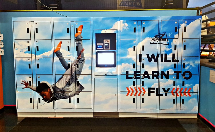 Lockers at Sky Zone