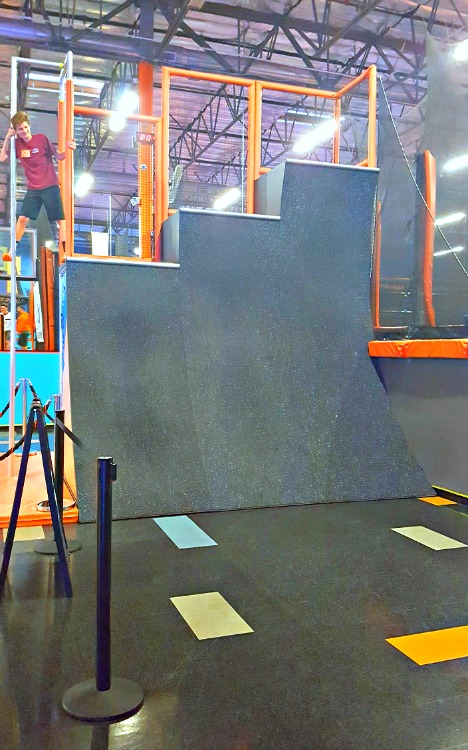 Running wall at Sky Zone