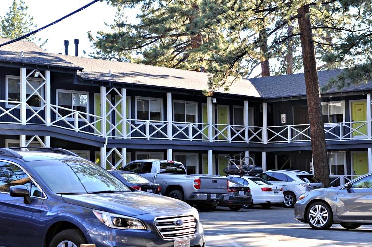 Basecamp hotel parking lot
