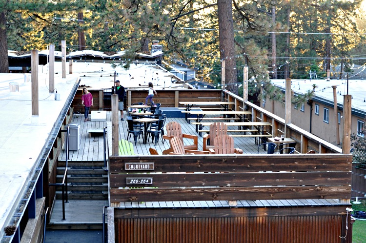 Rooftop deck at Basecamp Hotel in Tahoe South