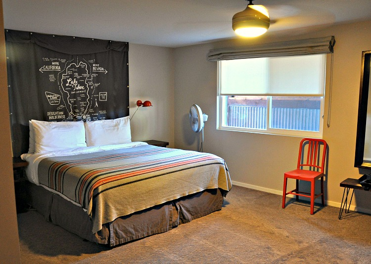 My room at Basecamp hotel in Tahoe South
