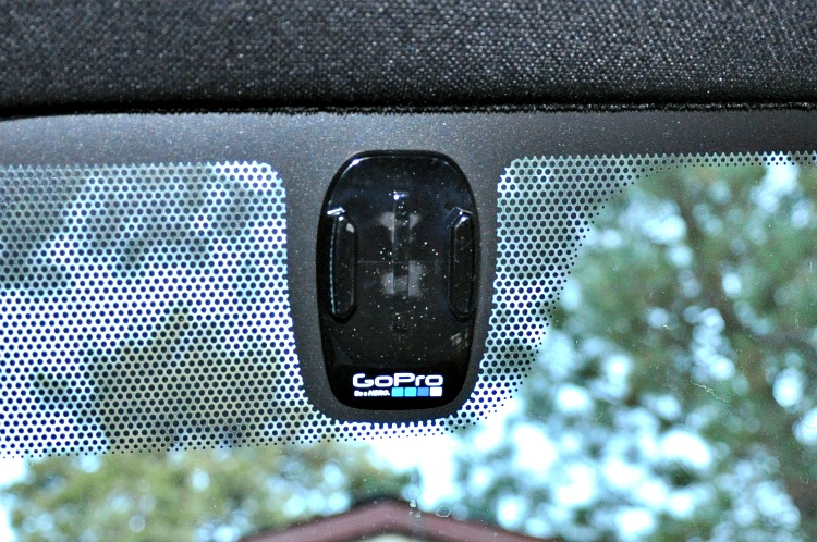 GoPro mount in Toyota Tacoma TRD 4x4 truck