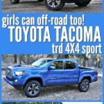 Collage of 4 images of Toyota Tacoma TRD 4x4 sport