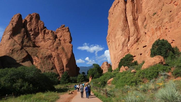 Garden of the Gods walking path in Colorado Springs, CO