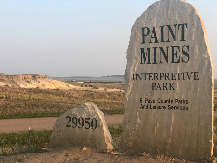 Paint Mines Interpretive Park stone