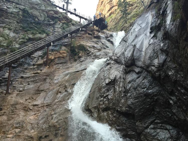 Seven Falls at Mt. Cutler in Colorado Springs, CO