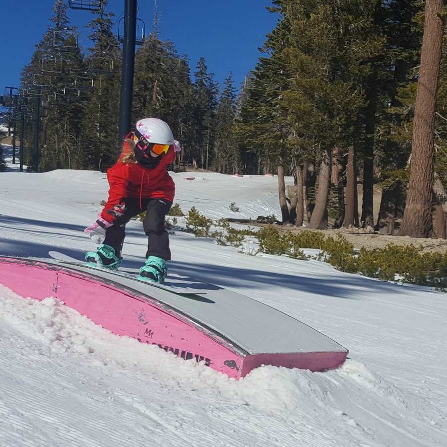 Kaylee riding in Mammoth