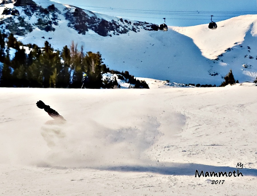 Brian doing a revert carve at Mammoth Mountain
