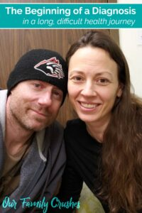 Vertical image of Brian and Chrystal at Doctor's appointment
