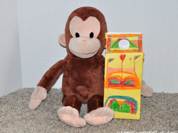 Curious George with Zoe's Cataraca invention