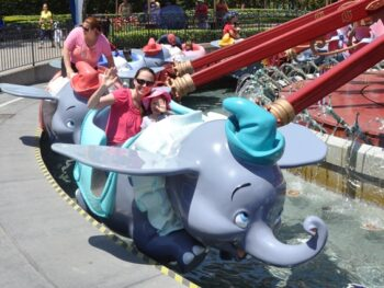Enjoying the Dumbo Ride