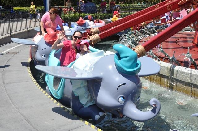 Enjoying the Dumbo Ride
