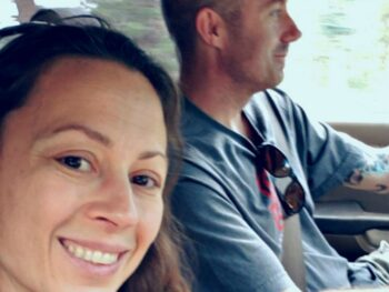 Brian and Chrystal driving to functional medicine doctor's appointment