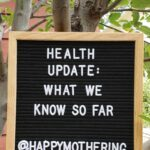 "Sign in tree reading ""health update"""