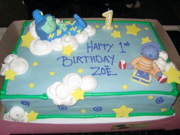 Zoe's Shushybye birthday cake for her first birthday