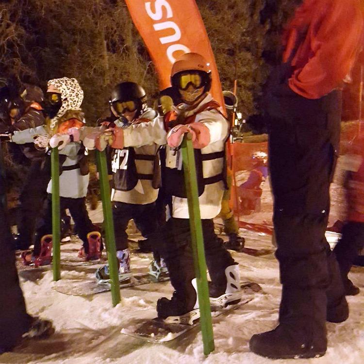 Zoe at USASA Slalom event