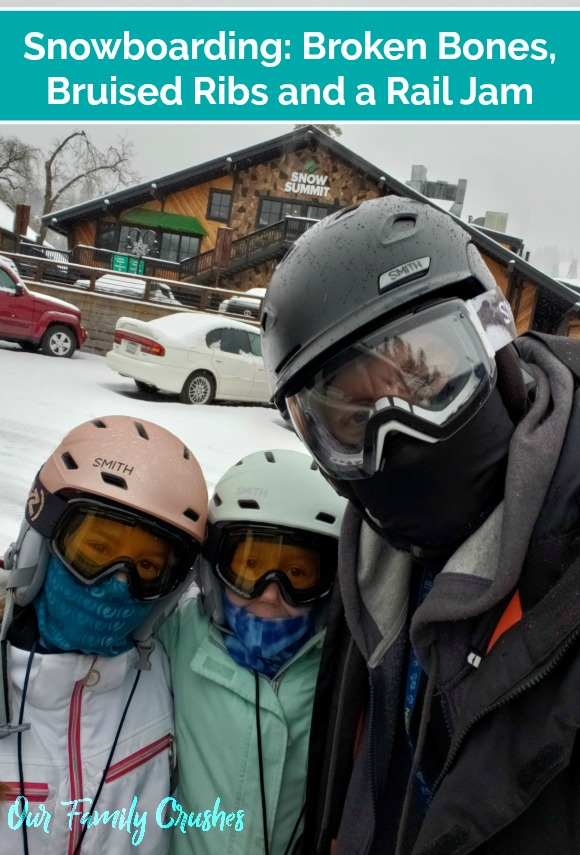 Brian and the girls at Snow Summit
