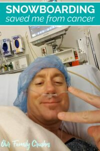 Brian laying in bed before colonoscopy