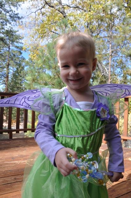 Zoe as Tinkerbell on Halloween