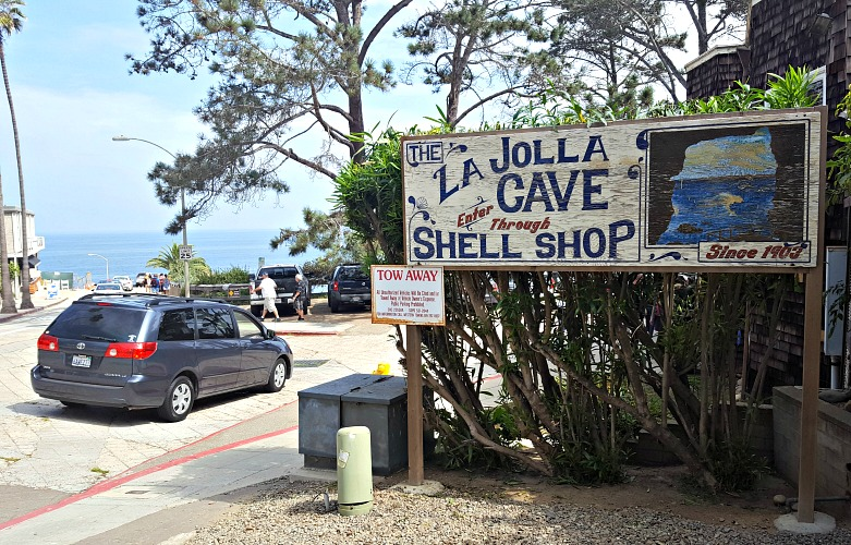 La Jolla Cave Sign