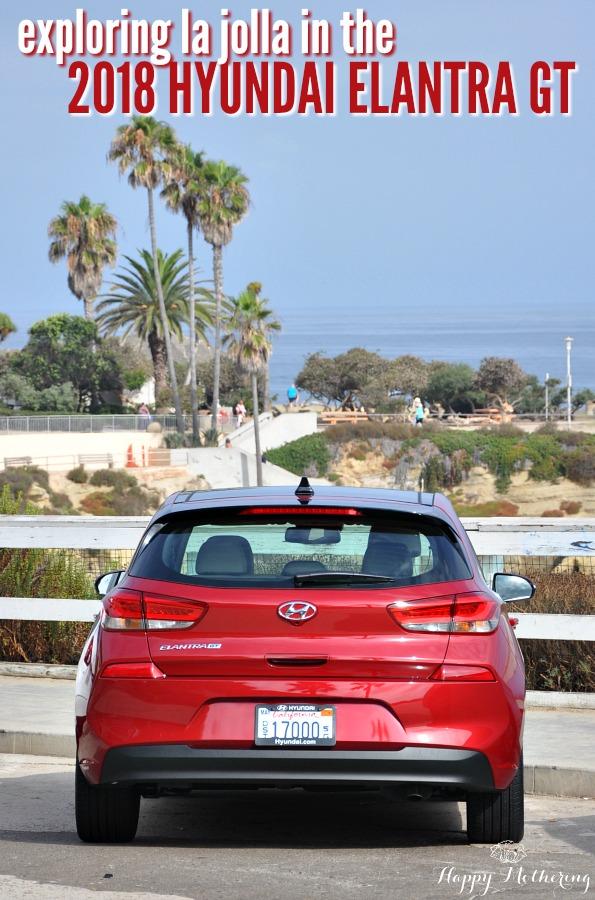 Hyundai Elantra GT parked in La Jolla Cove area