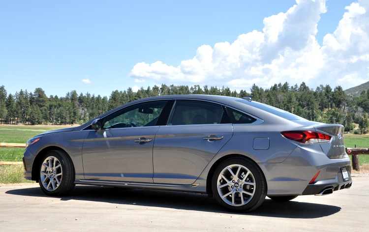 Hyundai Sonata in front of a beautiful nature backdrop