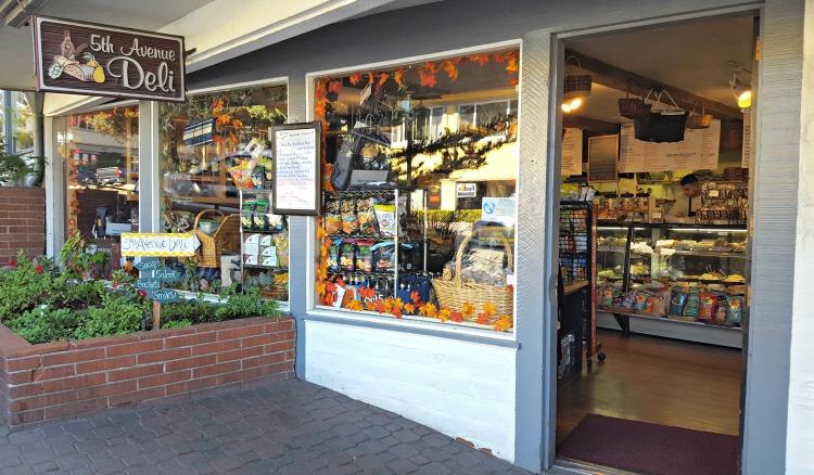 5th Avenue Deli storefront in Carmel by the Sea, CA