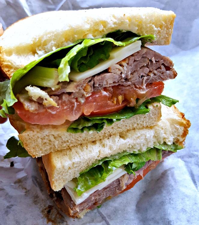 Tritip sandwich from 5th Avenue Deli