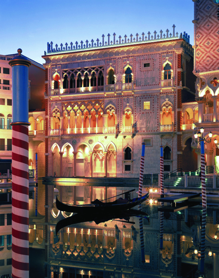 Gondola ride at the Venetian in Las Vegas, NV