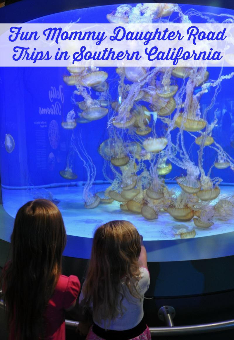 Zoë and Kaylee watching jellyfish at the Aquarium of the Pacific