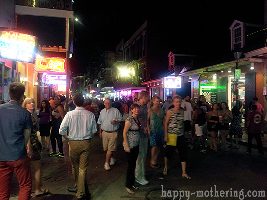 Bourbon Street in New Orleans, LA