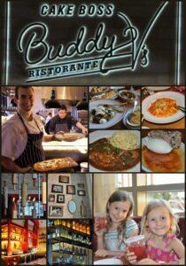 Collage of food eaten at Buddy V's Ristorante in Las Vegas, NV