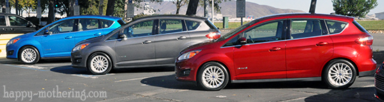 Fleet of Ford C-Max cars in San Francisco