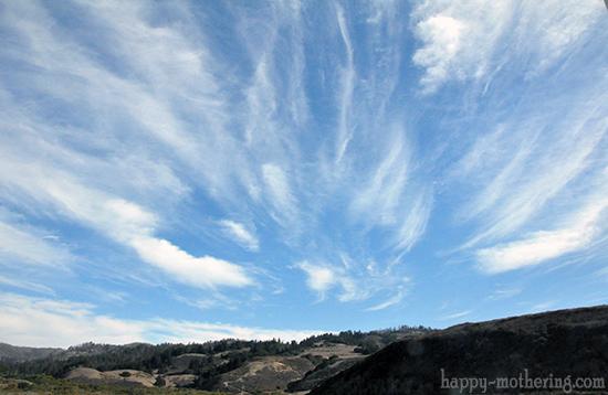 Clouds in the California sky