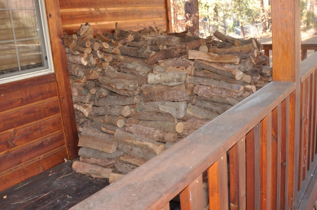 Firewood Stacked on Porch