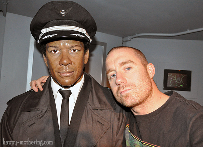 Brian with Denzel Washington at the Hollywood Wax Museum